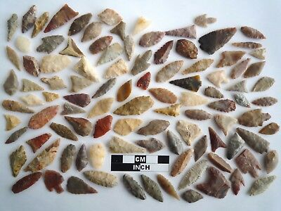 Neolithic Arrowheads x 100, Selection of Styles and Sizes - 4000BC - (1105)