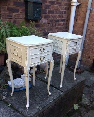 Pair Of French Louis Vintage bedside cabinets With Drawers