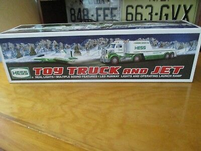 2010 HESS Toy Truck and Jet Plane  With Box , New in Box.