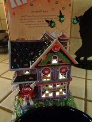 Dept 56 Halloween M&M's Haunted House Tours #59320 Lighted House/Candy Dish  (61