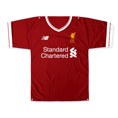 Liverpool Fc Kit Shaped Body Flag Or Banner Use On Wall Window New Gift Xmas
