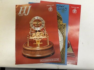 Horological Journal 2005 just 4 issues ALL PROCEEDS TO BHI BRANCH FUNDS