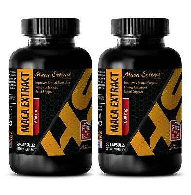 male ed pills - Pure MACA ROOT EXTRACT 1600mg - maca capsules - 2 Bot 120 Caps
