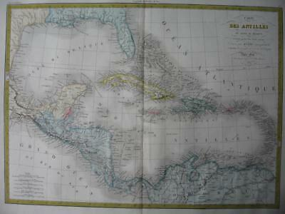 1829 - LAPIE - Map WEST INDIES  GULF OF MEXICO  FLORIDA