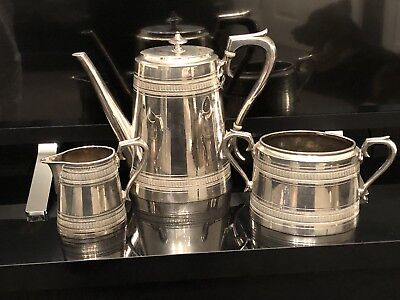 An Antique Silver Plated Tea Set By James dixon & sons.sheffield