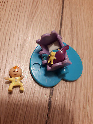 POLLY POCKET Baby Friend Playset Wippe + 1 Baby / Figur 1996
