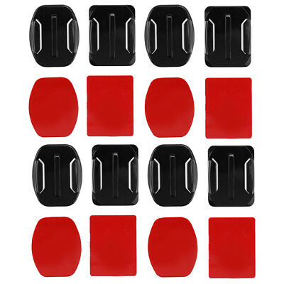 8pcs Flat Curved Base Mount Adhesive Stickers for GoPro Hero 5 6 4 Yi 4K SJCAM