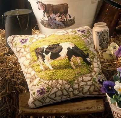 Rare Vintage Ehrman Kaffe Fassett Pansy The Cow Cushion Tapestry Needlepoint Kit