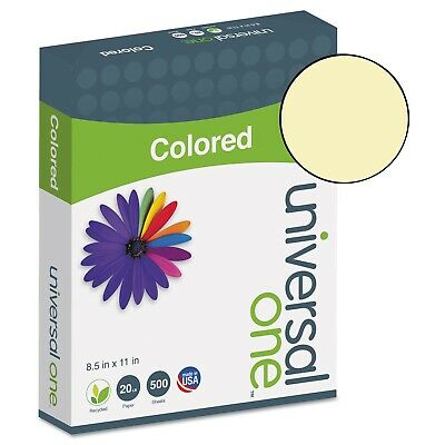 Universal One Paper Canary UNV11201-10 500 PAGE REAMS 8.5x11 (5000 Sheets)