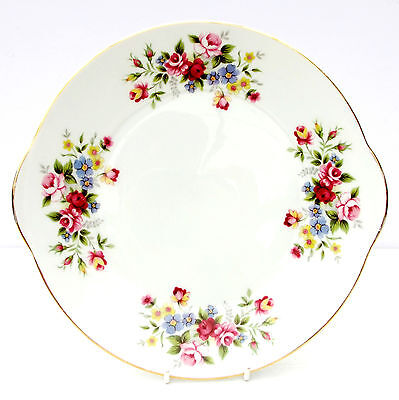 Vintage Marlborough June Garland Bone China Floral Cake Plate