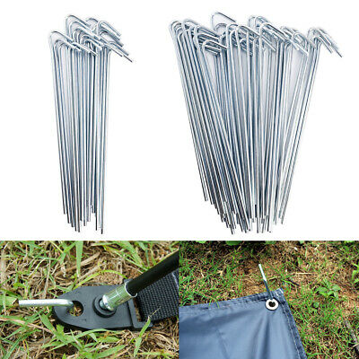 20/50 Pcs Aluminum Alloy Tent Pegs Stakes Hook Ground Pin Prismatic Nail Silver