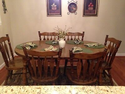 antique oak dining 4 leg dining table great condition