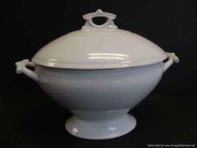 Antique Meakin & Co. White Ironstone Footed Large Soup Tureen 1865-1882