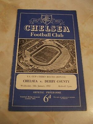 CHELSEA v DERBY COUNTY  FA CUP GAME 1952-53 SEASON