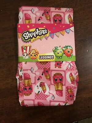 Shopkins Pink Lippy Lips Leggings Pants Girls Available In Size 4
