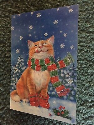 Leanin' Tree Christmas Card - Cat Theme - Inventory #1138