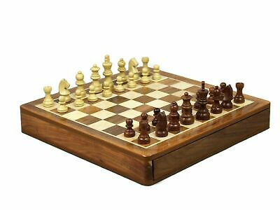 """Chess Set Square Solid Sheesham Wooden Chess Set Board Game 14"""""""