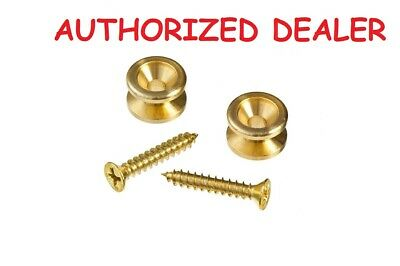 Solid Brass Guitar Strap End Pins PWEP302 D'Addario Planet Waves