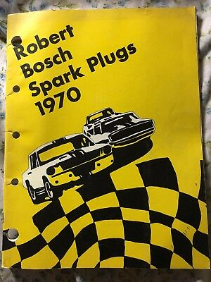 1970 Robert Bosch Spark Plugs Catalog All Applications 64pp