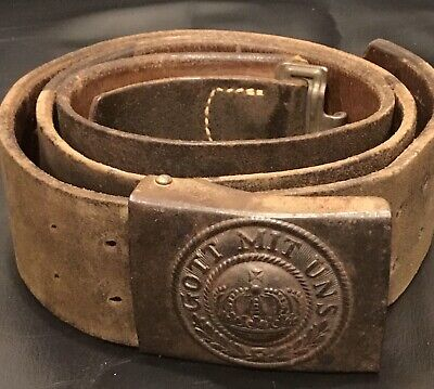 Imperial German, WW1 Enlisted Man's 1916 Dated Belt & Buckle, Kingdom of Prussia