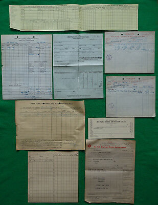 New York Ontario & Western RY NYO&WRY Assorted Paper Items 1912 to 1950s