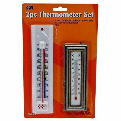 2x WALL THERMOMETER INDOOR and OUTDOOR GARDEN GREENHOUSE HOME OFFICE ROOM 1 pack
