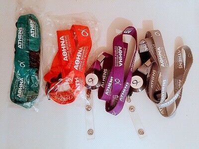 4 Lanyards Athens Int'l Airport (Red - Grey - Purple - Green)