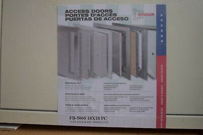 Acudor Access Door FB-5060 18x18 Turn Knob & Key; Prime Coat