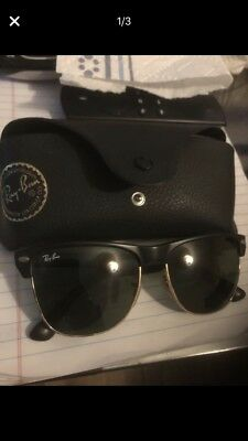 a9574cd06 RAY-BAN RB3016 901/58 Clubmaster Classic Black Sunglasses - $60.00 ...