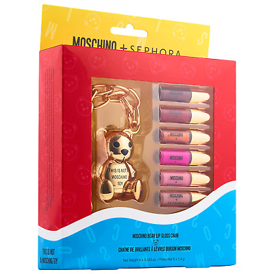 Limited Edition MOSCHINO x SEPHORA COLLECTION  Bear Lip Gloss Chain AUTHENIC