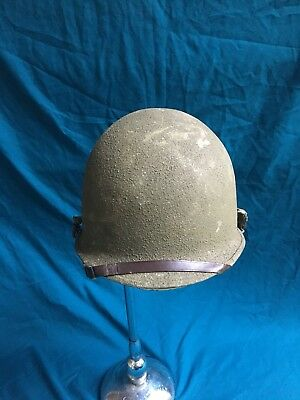 Ww2 M1 Helmet Complete Khaki Westinghouse Liner Front Seam Great Condition