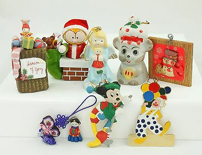 Vintage Characters Christmas Ornament Holiday Tree Decoration Lot