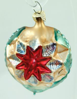 Vintage Painted Glass West Germany Christmas Ornament Holiday Tree Decoration