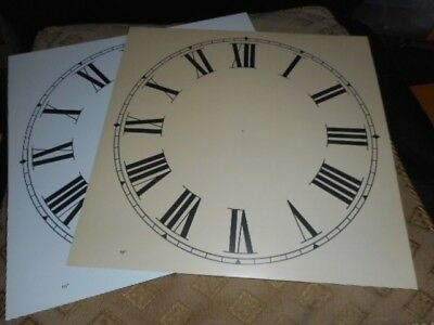 "Paper Clock Dial - 10"" M/T - Roman  - Matt Cream- Face / Clock Parts/ Spares"