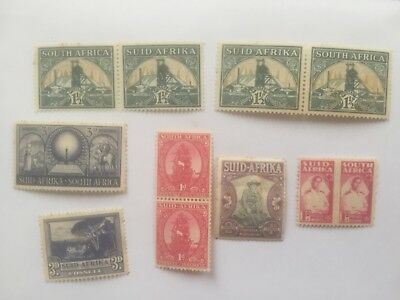 SOUTH AFRICA old mint stamps includes some pairs - lot3