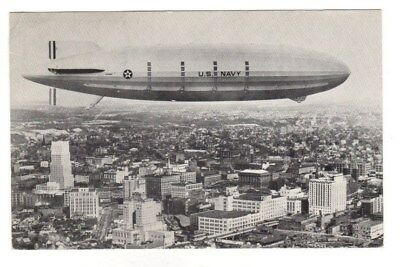 U.S. Navy Airship Akron Postcard (Dirigible,Blimp)
