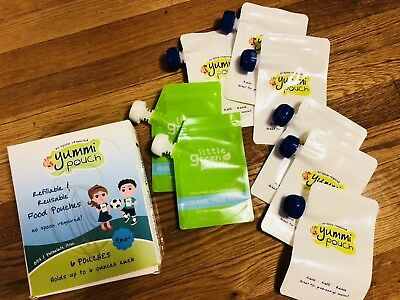 Yummi Pouch Reusable Recycle Food Pouches Toddler Baby Kids New