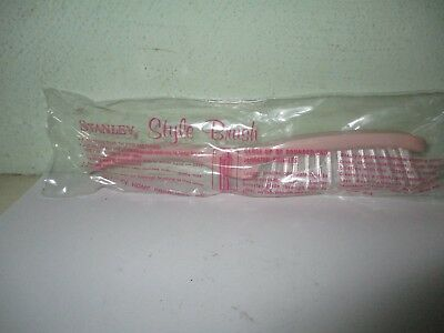 Stanley style brush (# 4047) - vintage Stanley Home Product -  pink hair brush
