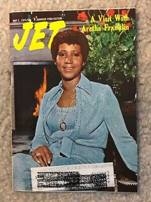 1974 Jet Digest Magazine A Visit With Aretha Franklin