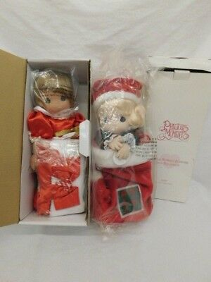 Precious Moments Jingles & Stocking Doll New In Boxes Christmas Qvc
