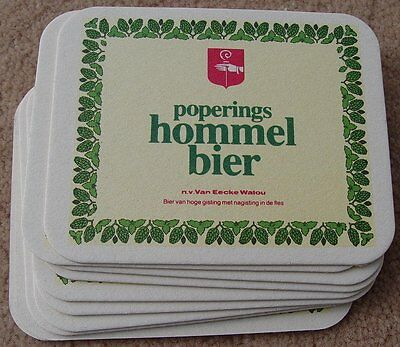 Poperings Hommel Bier Beer 2 Side Coasters NEW Lot of 10 Belgium Mat Bar Pub