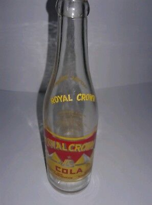 Royal Crown Cola Pyramid Acl Soda Bottle Danville, Ky  Copyright 1936 Nehi Corp.