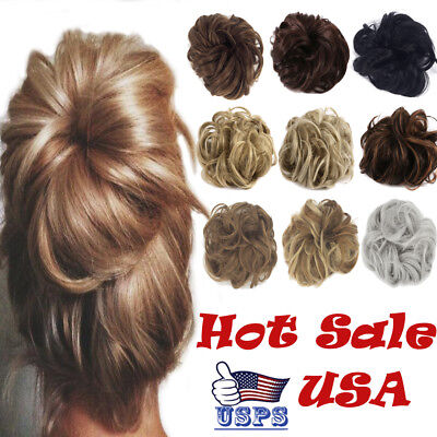 Hair piece Chignon Ponytail Hair Extensions Bun Fashion Short Curly Messy Women