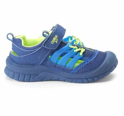 OshKosh Bgosh Koda Toddler Boys Sneakers Shoes 9 T Blue and Green NEW MSRP 34.99