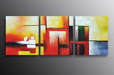 Framed Modern Abstract Oil Painting Canvas Ready To Be Hung