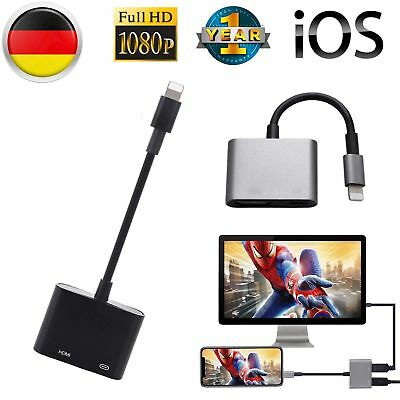 8Pin HD Lighting Zu HDMI Adapter Kabel Digital HDTV Für IPhone X 8 7 7plus IPad