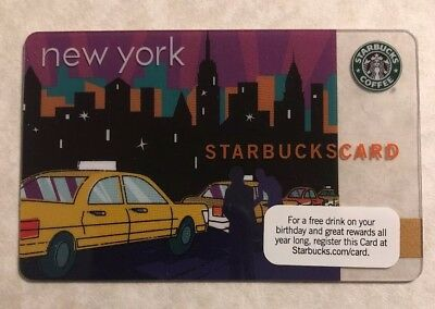 Starbucks 2010 NYC New York City Taxi Card - Mint No Value