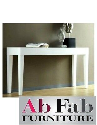 WAVERLEY HALL TABLE STAND CONSOLE WHITE GLOSS 100cm