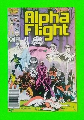 Alpha Flight #33 VF/NM 9.0 NEWSSTAND 1986 Marvel 1st Appearance Lady Deathstrike