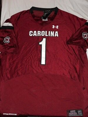 f51ba1a576f South Carolina Gamecocks Under Armour Football JERSEY  1 Red USC Gamecocks  3XL